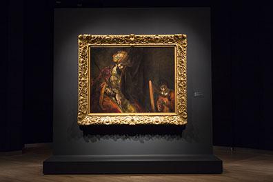 Saul en David op zaal Fotograaf: © Ivo Hoekstra Credits: Mauritshuis, Den Haag