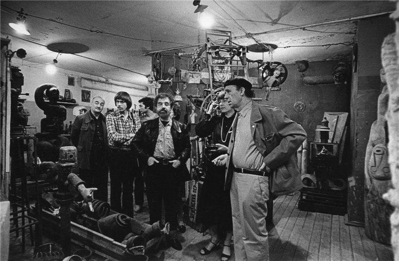 Vadim Sidur receives guests in his basement studio