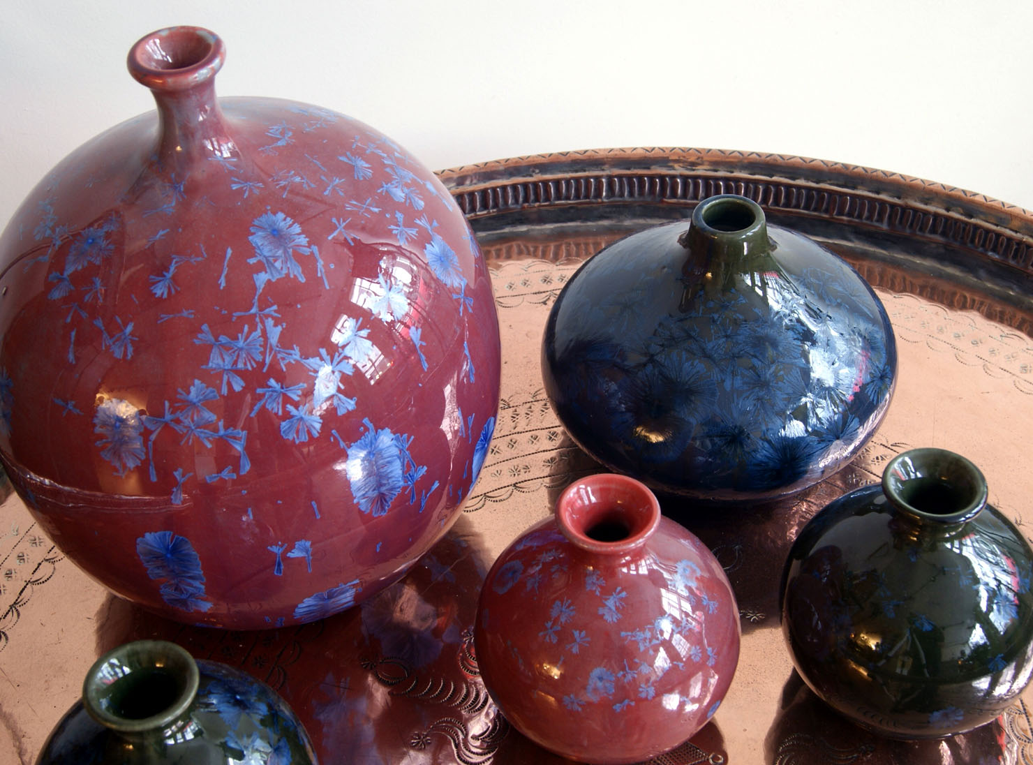 Des Pots vazen met kristalglazuur