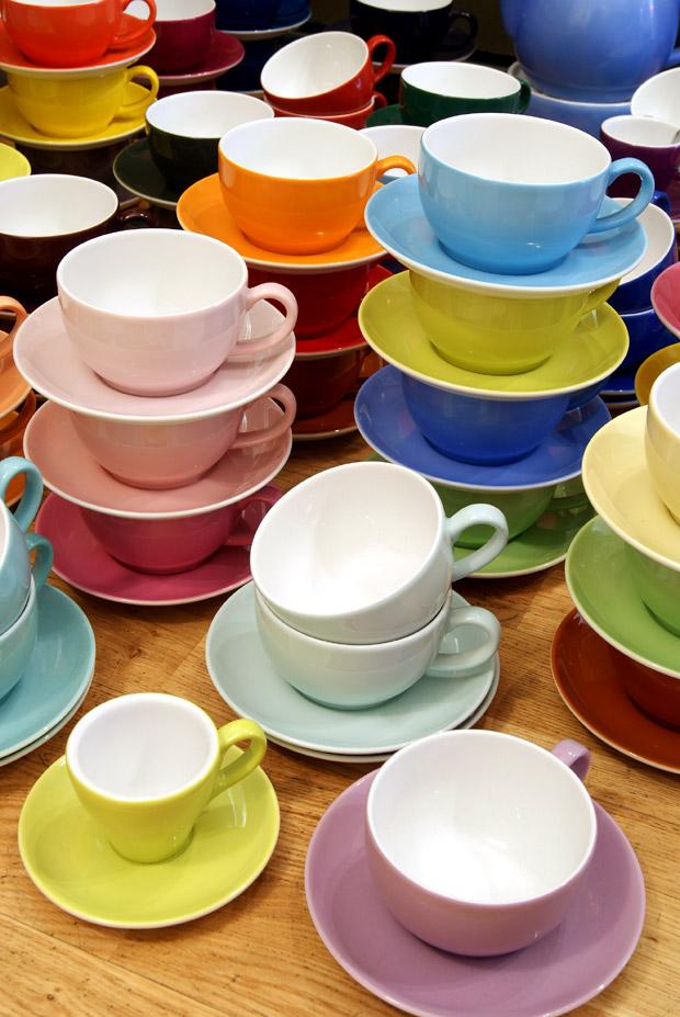 Een uitgebreide collectie koffie- of theekoppen Dibbern Solid Color bij Schreuder & Kraan