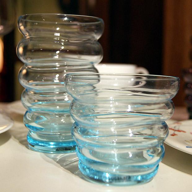 Sugahara plump glas blauw
