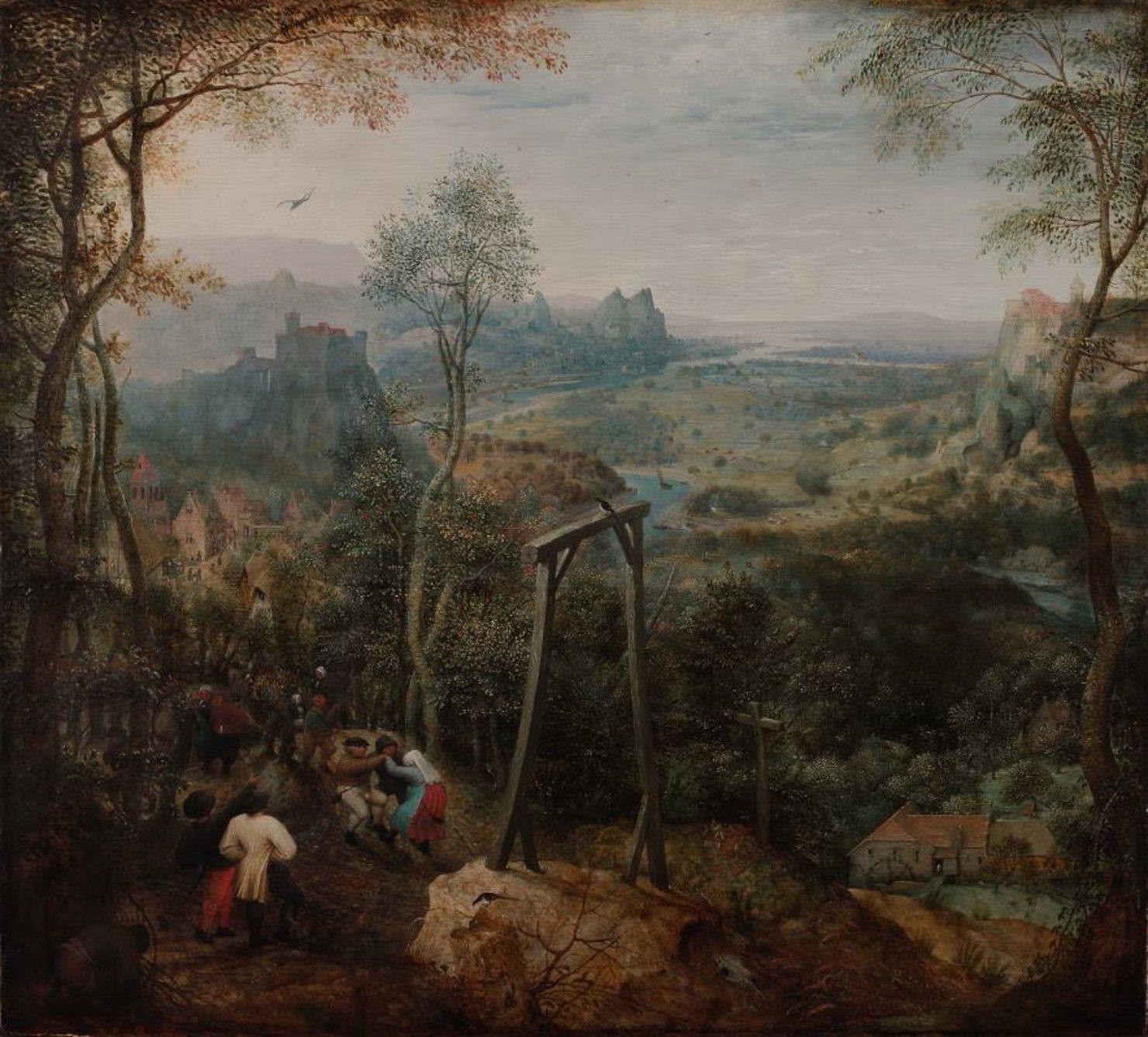 De ekster op de galg, 1568. Hessisches Landesmuseum, Darmstadt