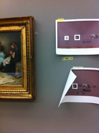 retoucheren van de lijst, installatie van Gogh tentoonstelling in Tate Britain