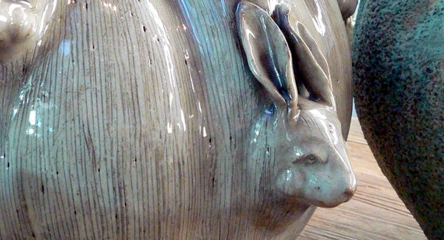 Een bijzondere vaas van Des Pots, de haasvaas