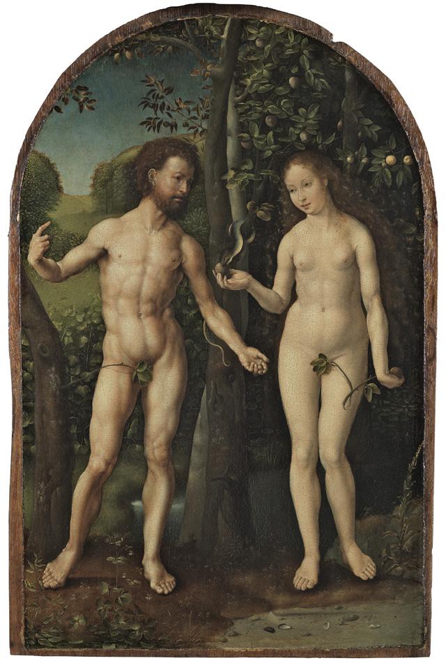 Jan Gossaert of Maubuse ca. 1478-1532, Adam and Eve ca. 1507 - 1508 Oil on panel. 56.5 x 37 cm Museo Nacional Thyssen-Bornemisza, Madrid