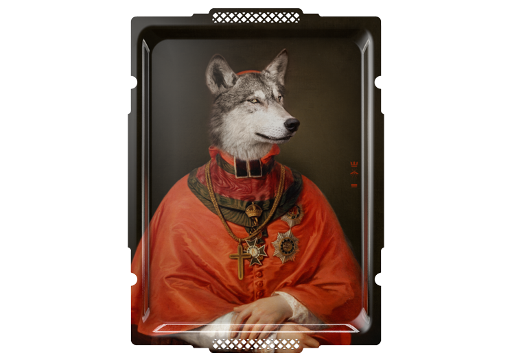 De wolf, personage uit de Fabels van Lafontaine, door Ibride - bij Schreuder & Kraan, Haarlem