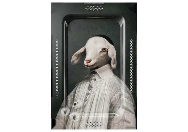 Het lam, personage uit de Fabels van Lafontaine, door Ibride - bij Schreuder & Kraan, Haarlem