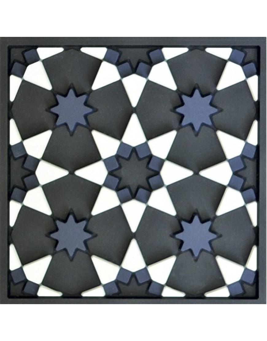 """Images d'Orient: Kaukab is het Arabische woord voor """"ster"""". Deze onderzetter werd geïnspireerd door geometrische patronen uit de VIII-ste eeuwse Islamitische kunst, zoals de octagoon en de achtpuntige ster."""