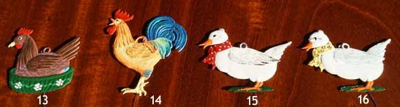 Handbeschilderde tinfiguren als paasversiering voor in een paastak - bij Schreuder & Kraan in Haarlem, Pasen 2020