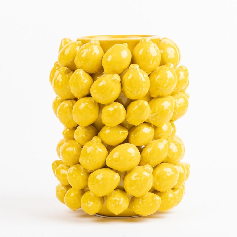 Grote citroenvaas van Des Pots verkrijgbaar bij Schreuder & Kraan.