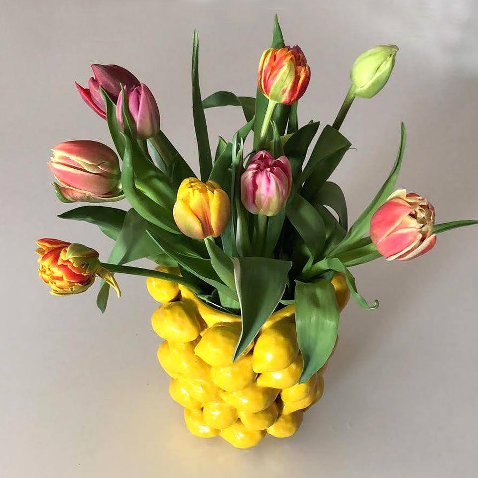 Des Pots citroenvaas bij Schreuder & Kraan verkrijgbaar.